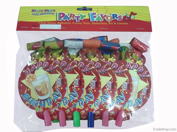 party blowouts with decoration