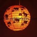 round paper lantern and holiday string lantern