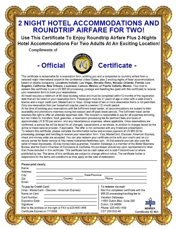 Travel Certificates