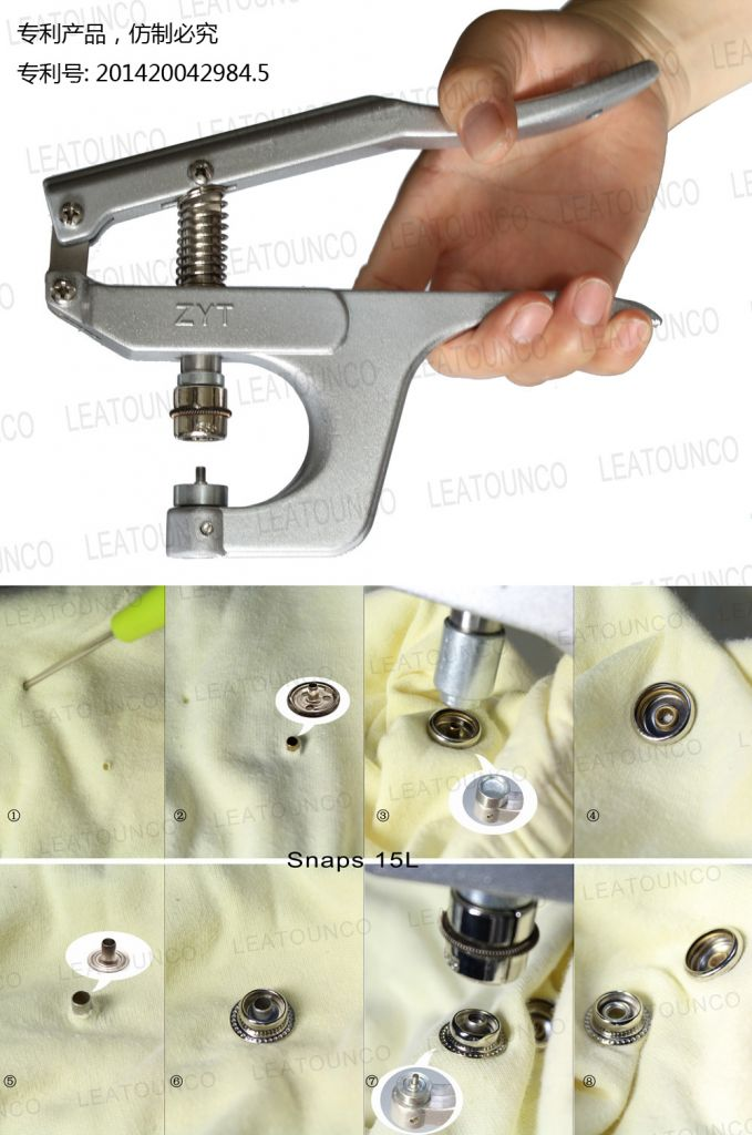 Pliers for Various of Metal Snaps, Pliers for Coat Snaps Leather Snaps Jeans Snaps Button Pressing Tool DIY