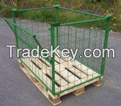 Metal Wire Mesh Storage Pallet Cage