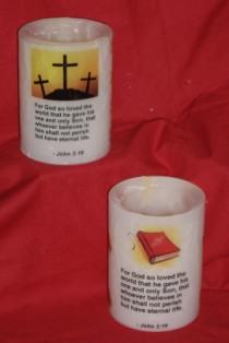 Flameless Tealight Hurricane Candles