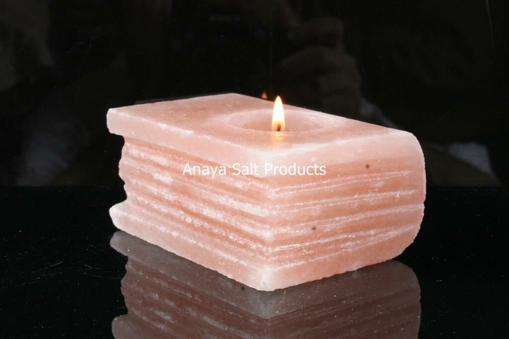 Himalayan Salt Tea Lights/ Rock Salt Tea Light Holders/ Natural Salt Tea Light