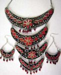 Tribal Necklace with matching earrings
