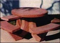 Concrete Interlocking Table