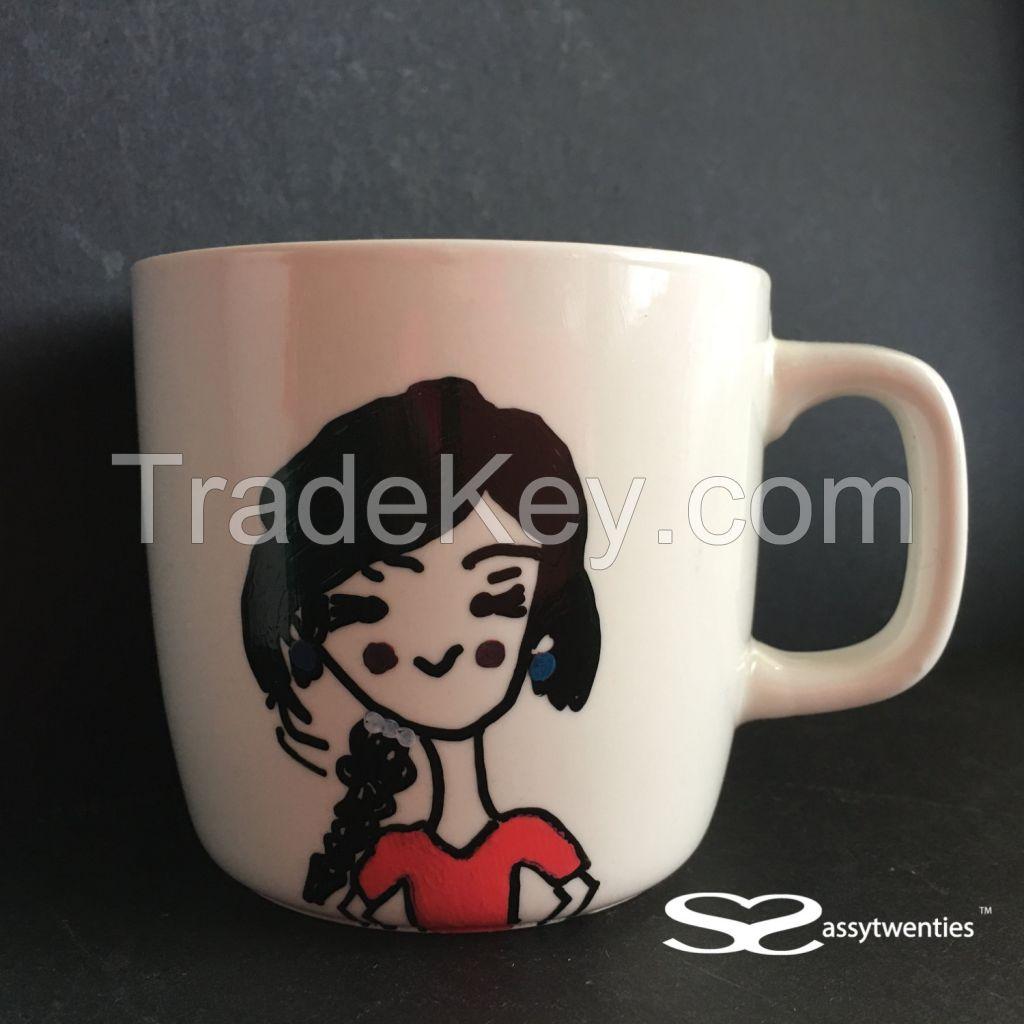 Pretty Office Girl - Personalized Mug