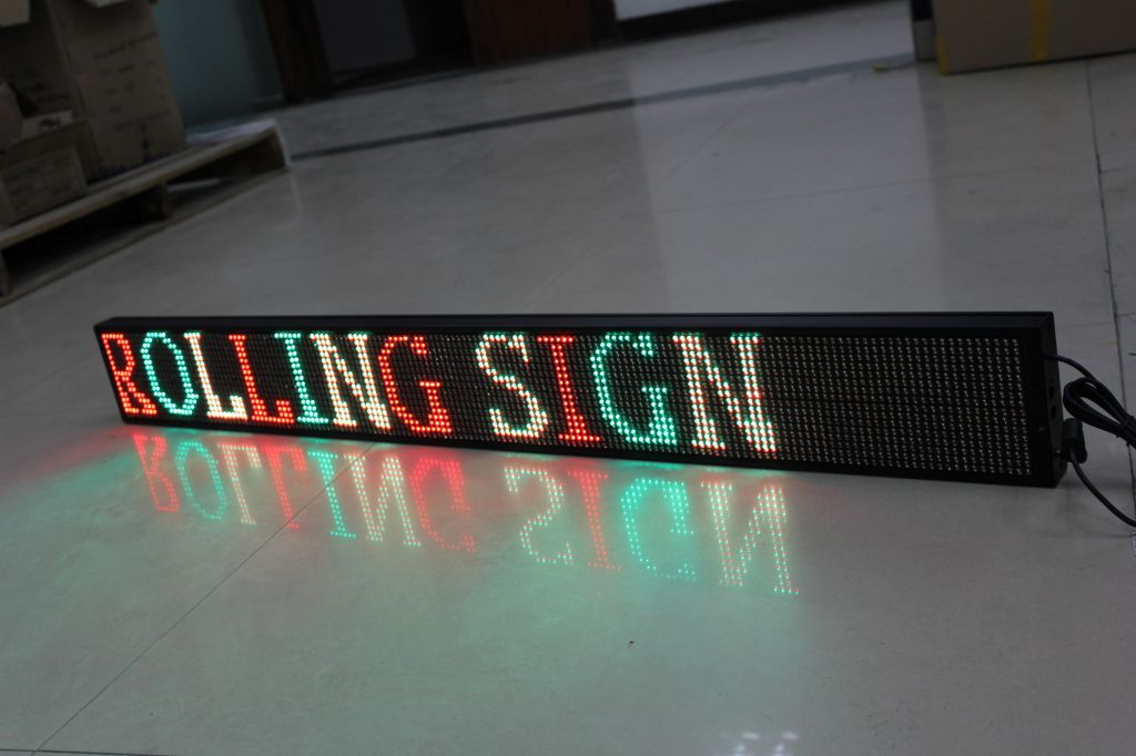 Semi-outdoor tri-color programmable led sign