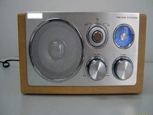 NR wooden radio