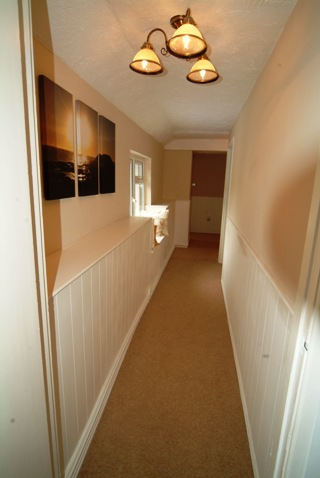 Tongue and groove wall panelling