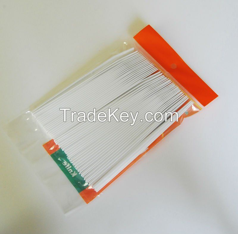 European or American style disposable plastic cutlery forks spoons knives and teaspoons