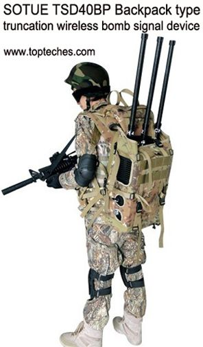 Backpack type bomb jammer - communication jammer - GPS jammer manufacturer