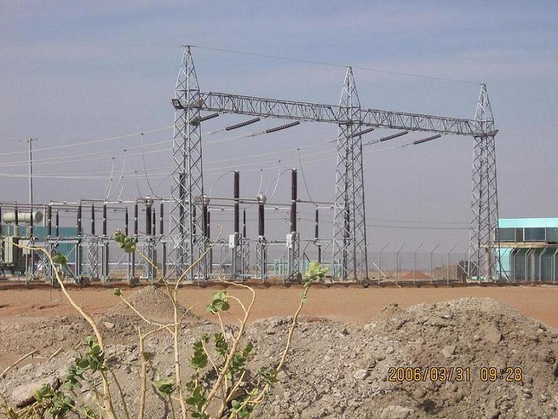 steel structure , gantry for substation