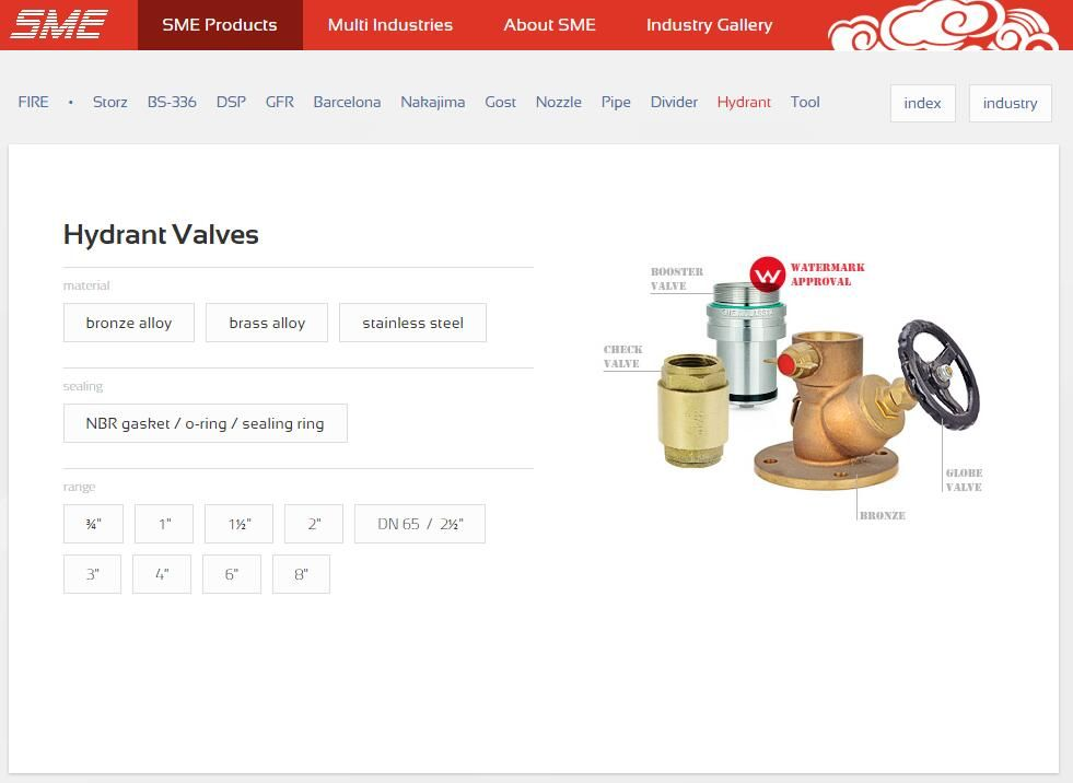 WaterMark Approved Hydrant Valves