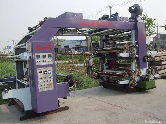 Plastic film roll flexo printing machine