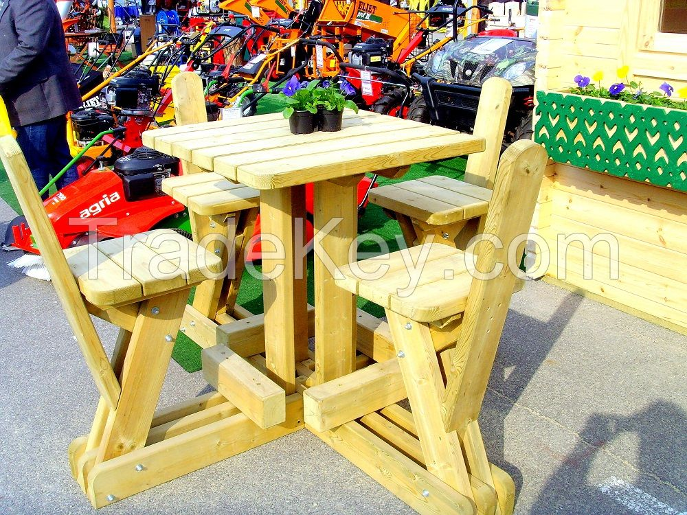 Wooden Spurce Garden sets