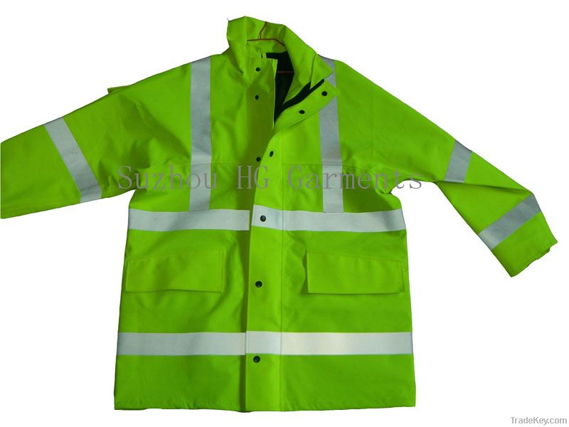 Reflective Safety Workwear Hi Vis Jacket