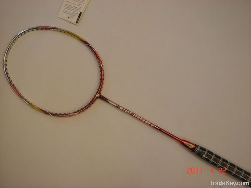 Sell Badminton Racket, Full Graphite with Chrome Shinning Printing