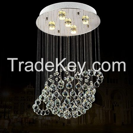 Made in China Globe Shape Crystal Chandelier LED Pendant Lamp 6005-5
