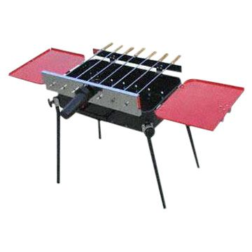 Yongshen BBQ grill_charcoal grill_Foldable grill_automatic rotational grill with motor
