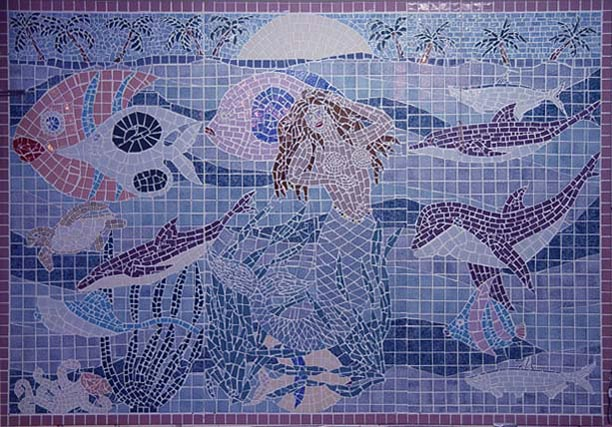 OCEANIA, MOSAIC TILES, 12 FT X 8 FT, ON SALE, PLEASE INQUIRE