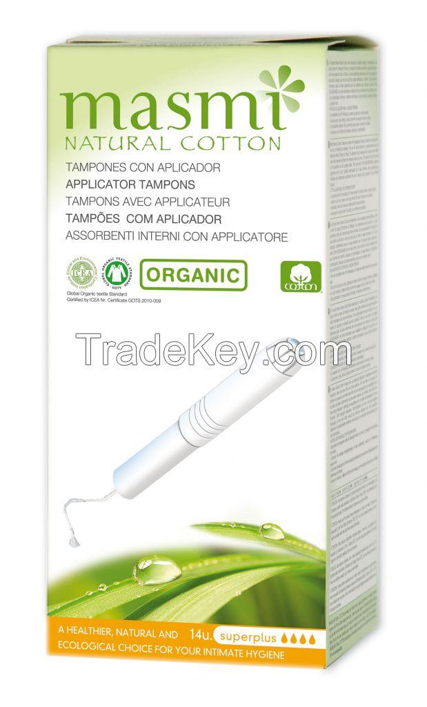 Organic and Natural Cotton Cardboard Applicator Tampons