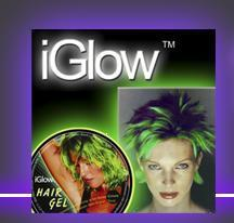 iGlow in the Dark Party Hairgel