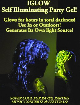 NEW PRODUCT DISTRIBUTORS WANTED iGLOW GLOW IN THE DARK HAIRGLE ONE OF A KIND NO COMPETITION
