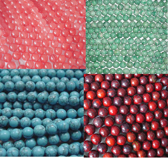 smooth/faceted round/rectangle  beads
