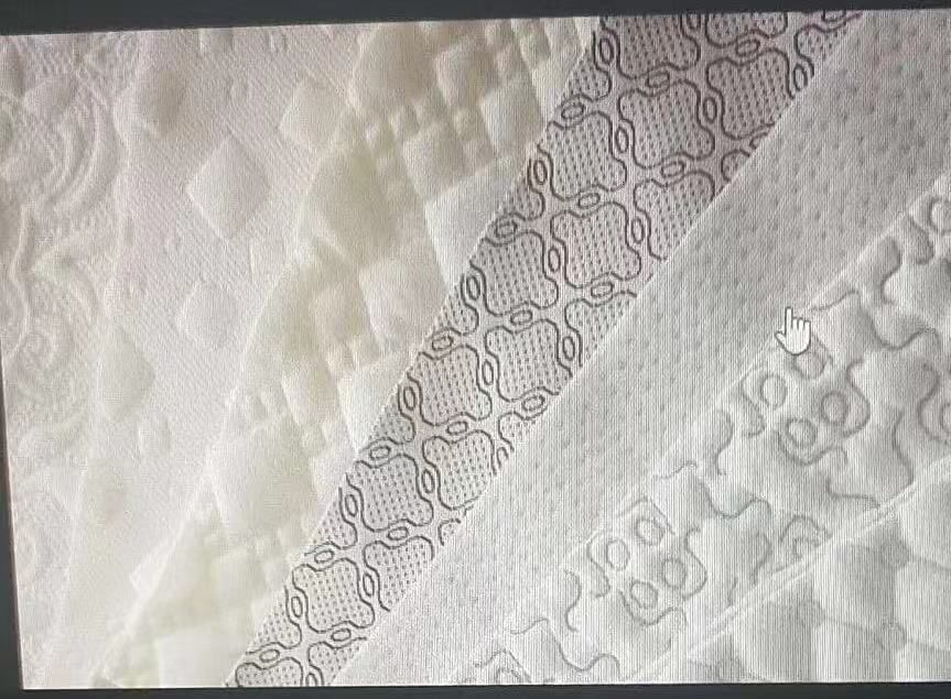 jacquard and knitted fabric