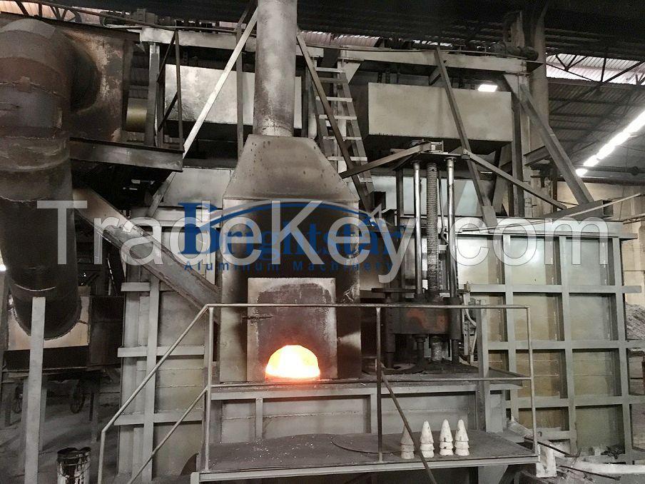 Aluminum chips and turnings melting furnace