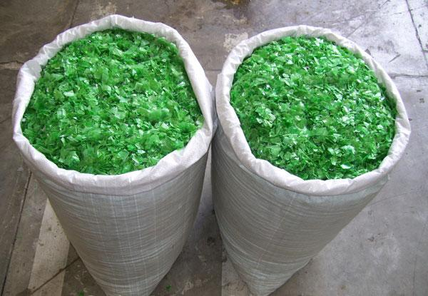 Green Pet Bottle Flakes