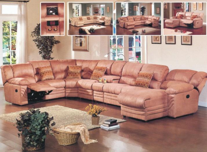Leather Sofa (B2105#)