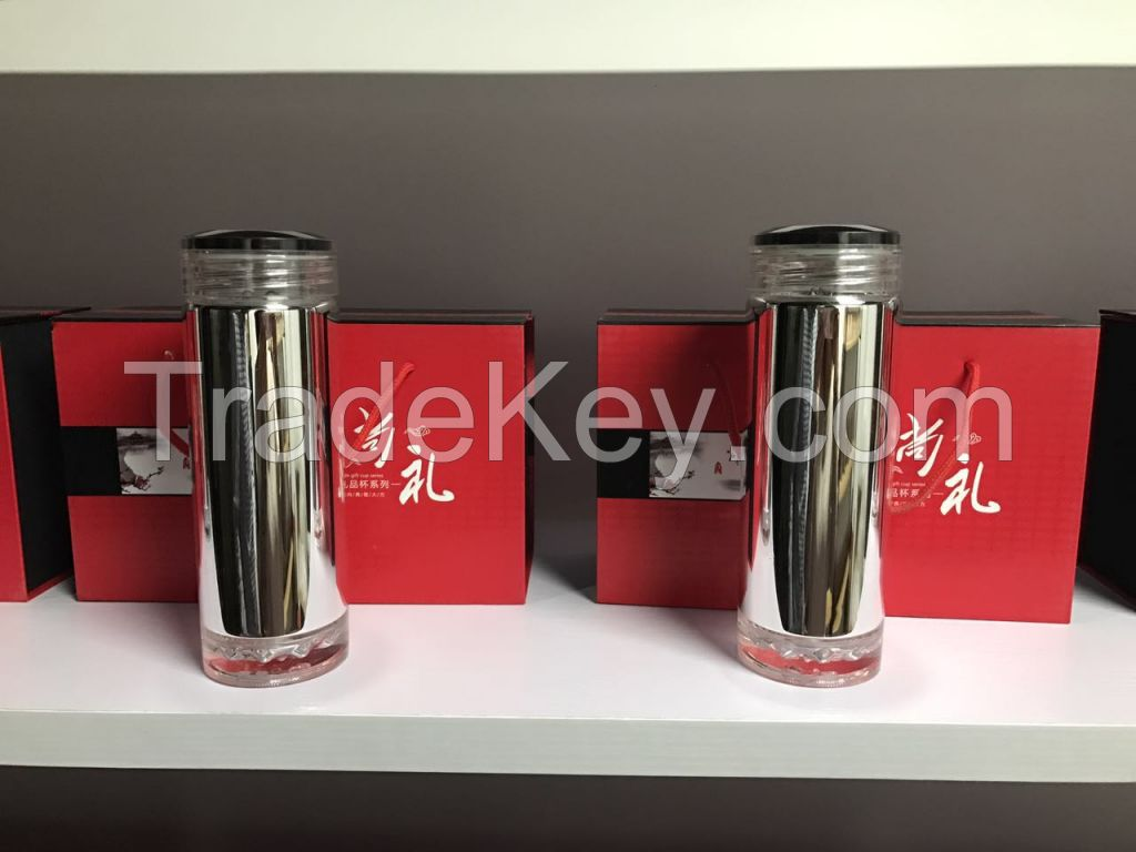 Crystal Glass Vacuum Flask