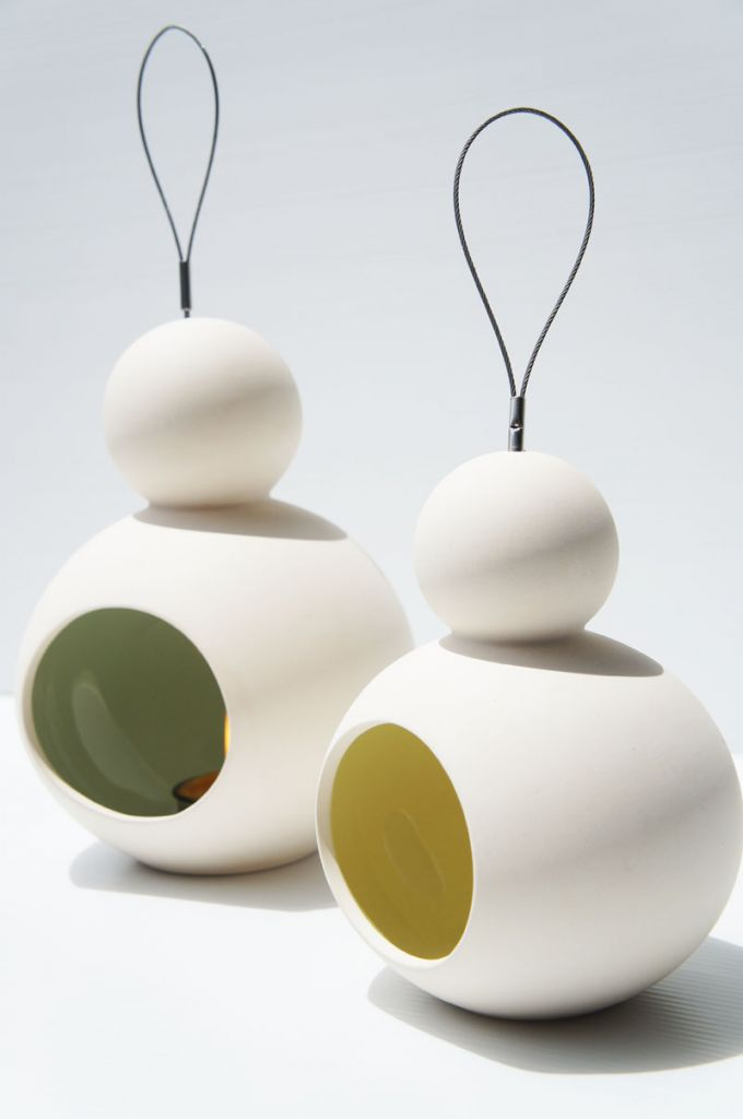 Doll Ceramic Hanging Candle Holder - Round