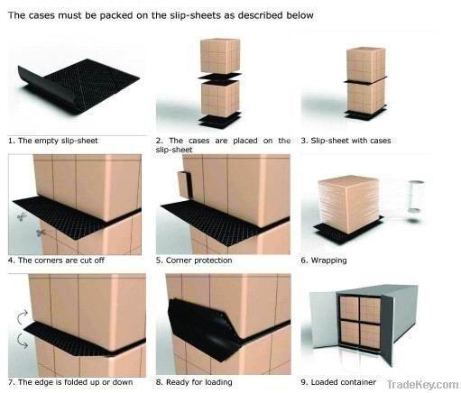 PE/kraft paper slip sheet / paper pallet