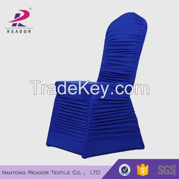 cheap spandex ruched chair cover for wedding