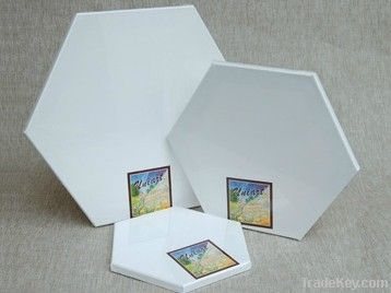 hexagon stretched canvas