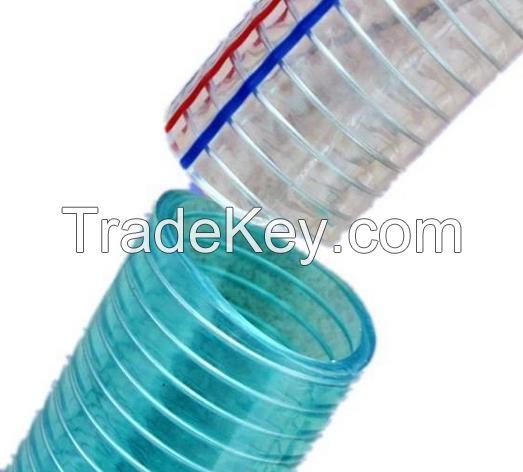 Steel wire braided PVC hose