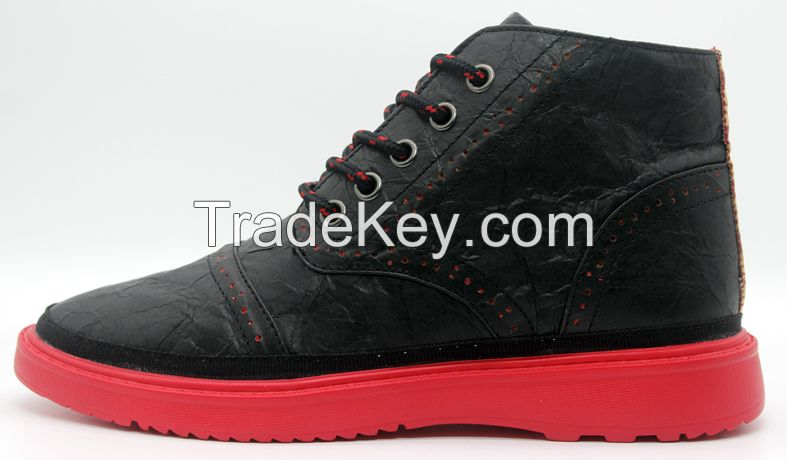 Men's Casual shoes High cutted Fashion shoes in Black color