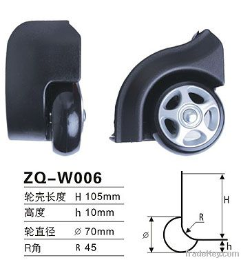 70mm Luggage Plastic Wheel Part