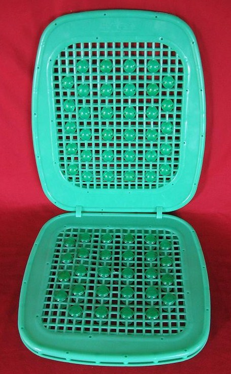 plastic beads cushion