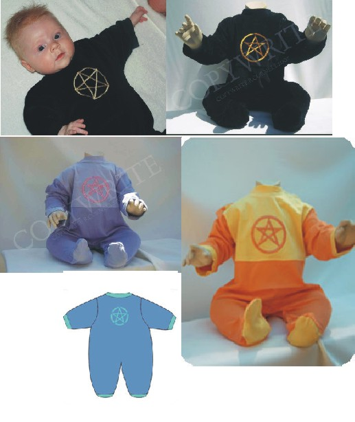 Wiccan Baby clothes, Baby Romper