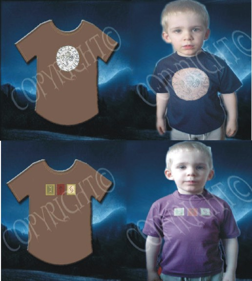 Runic wiccan T-shirt