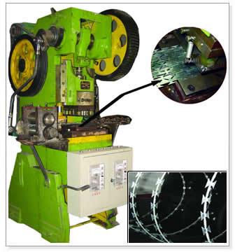 Hot Galvanized Razor Barbed Wire Machine