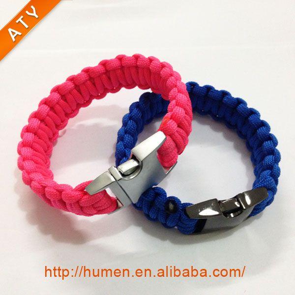 Survival Bracelet With Adjustable Stainless Steel D Shackle