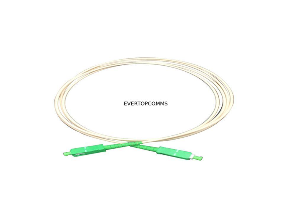 PVC Jacket Fiber Optic Cable Patch Cord SC/APC - SC/APC Single Mode Simplex