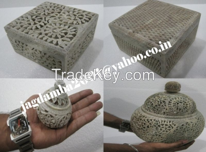 Decorative Box Carving , Marble Inlay Box Handmade, Gift marble boxes,semi-precious stones inlay