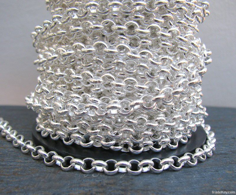 ss925 sterling silver rolo chains, oval rolo chains