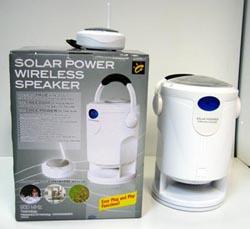 Solar Powered Wireless Hi-Fi Speaker With Transmitter