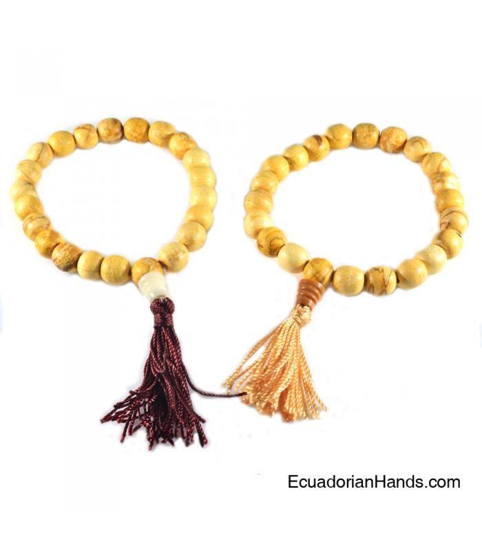 Japa Mala Bracelet 21ct palosanto prayer beads (1 unit)